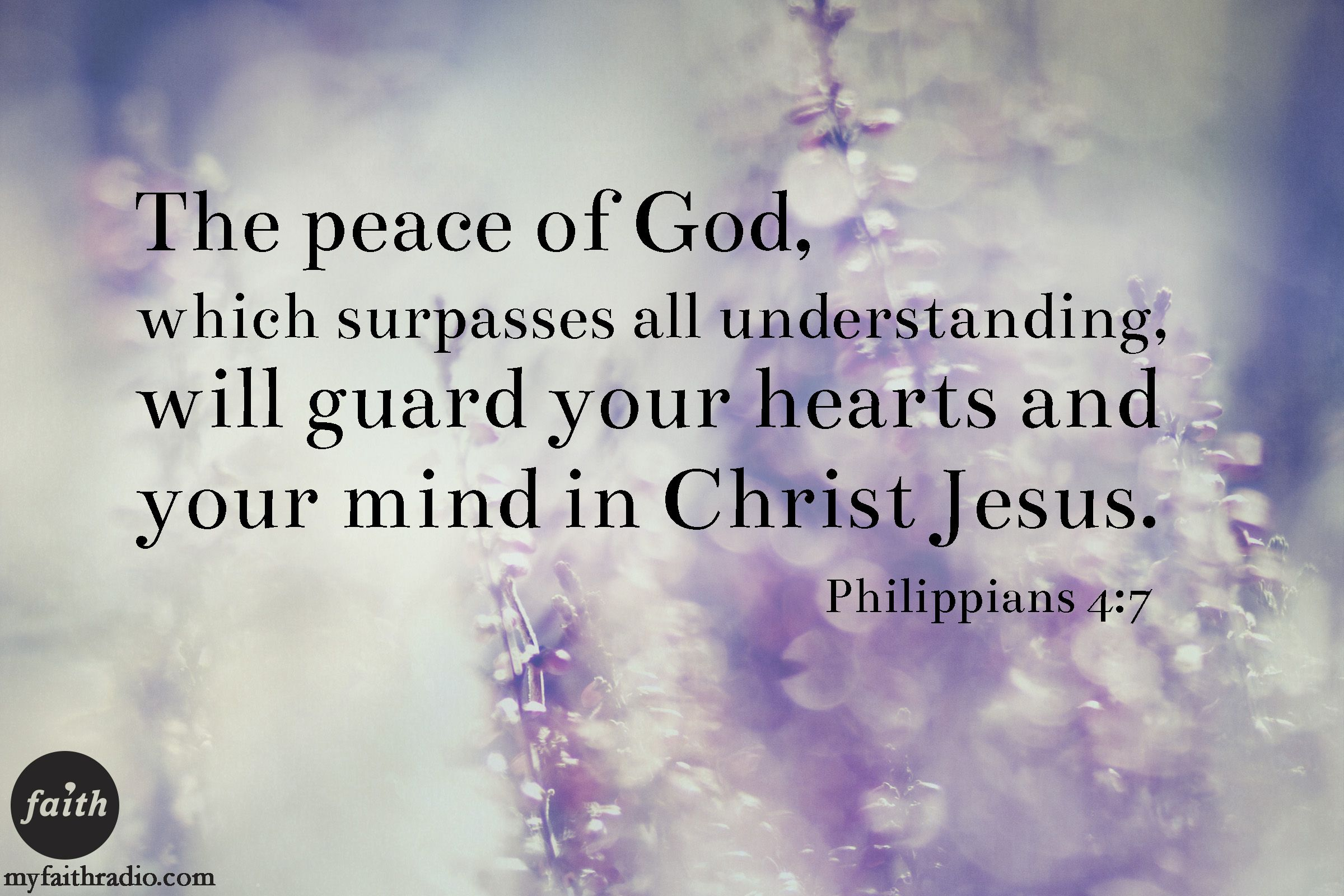 Philippians 4:7...We pray that you peace that surpasses understanding today.