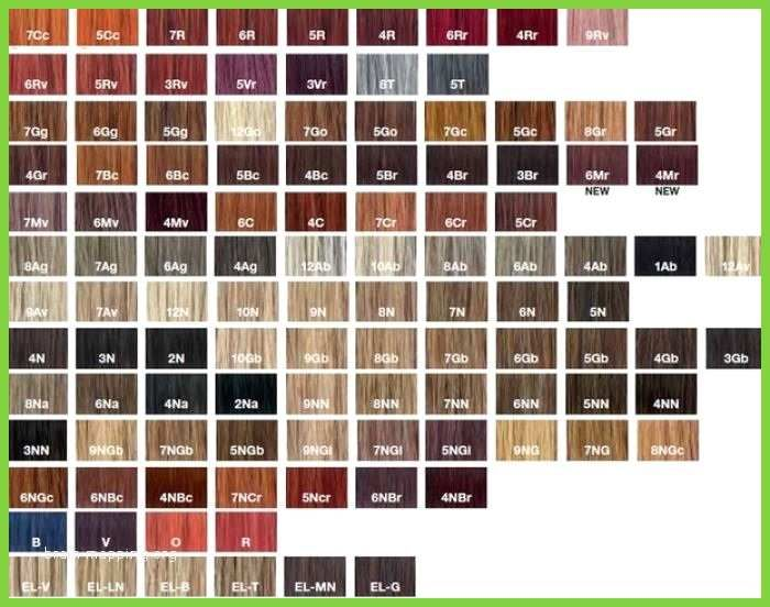 Age Beautiful Color Chart Luxury Hair Redken Cover Fusion