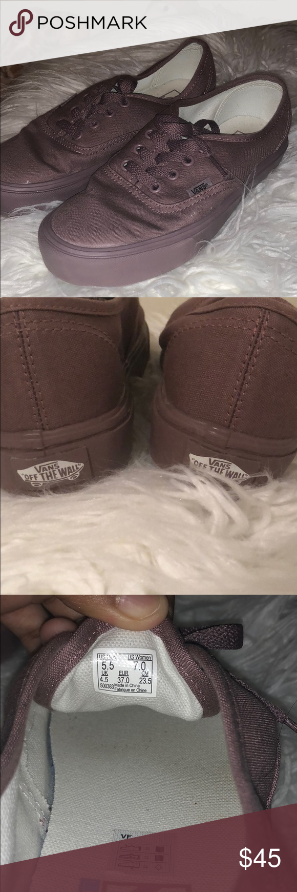 6a3e19f4ad Vans Ultracrush Authentic. Only used once. VANS Authentic Lite (Mono) Mauve Mauve  Purple UltraCush Out Of Stock in the Van s Website Vans Shoes Sneakers