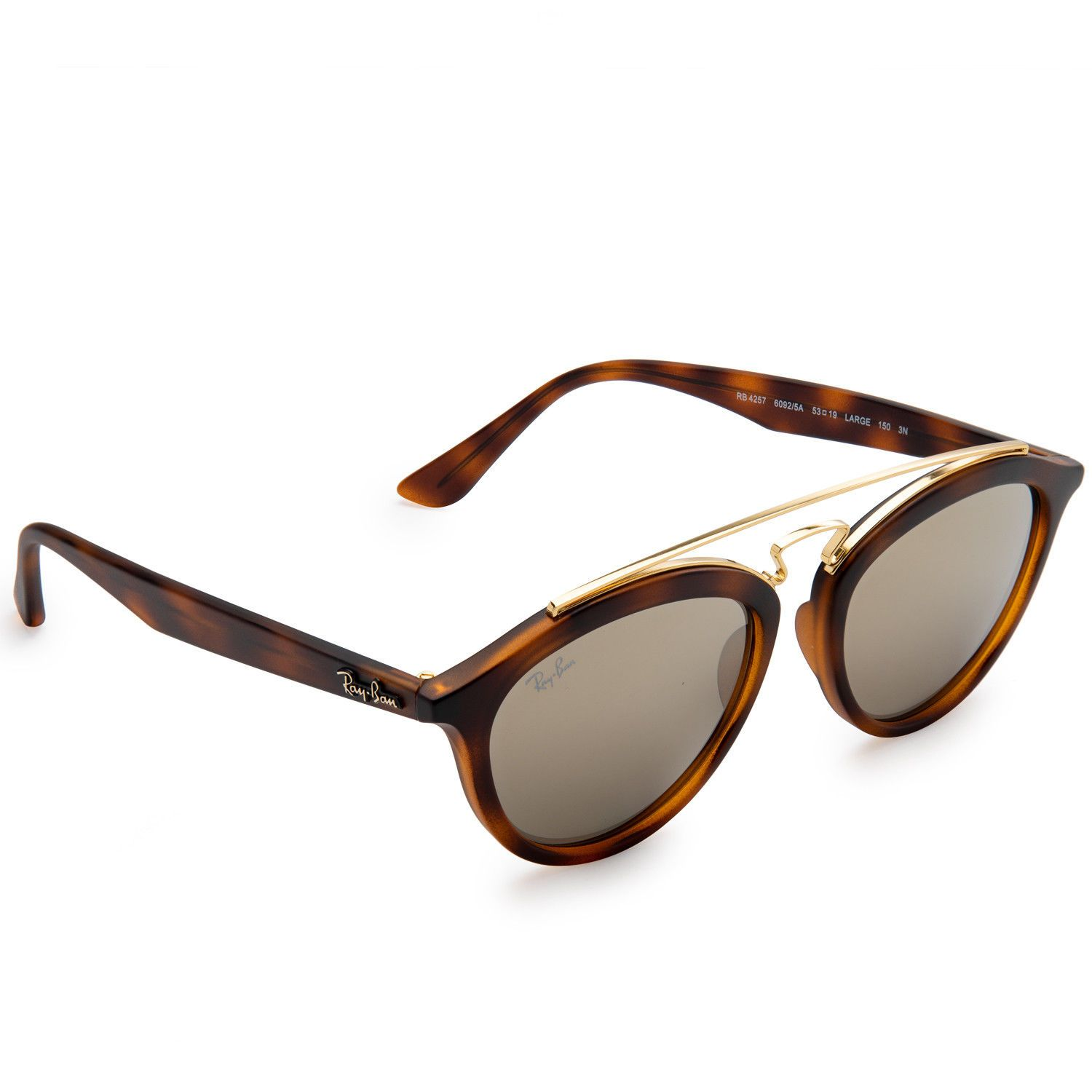 e4bc2da26f Ray-Ban RB4257 Gatsby II Sunglasses (Tortoise Brown and Gold Gold Mirror)