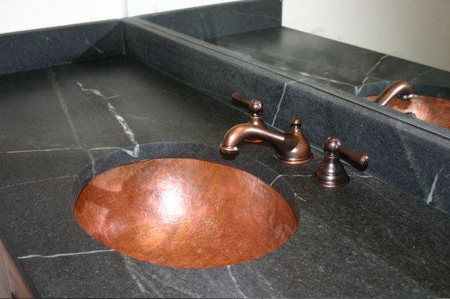 The Granite Gurus 10 Bathrooms With Soapstone Bathroom Vanity
