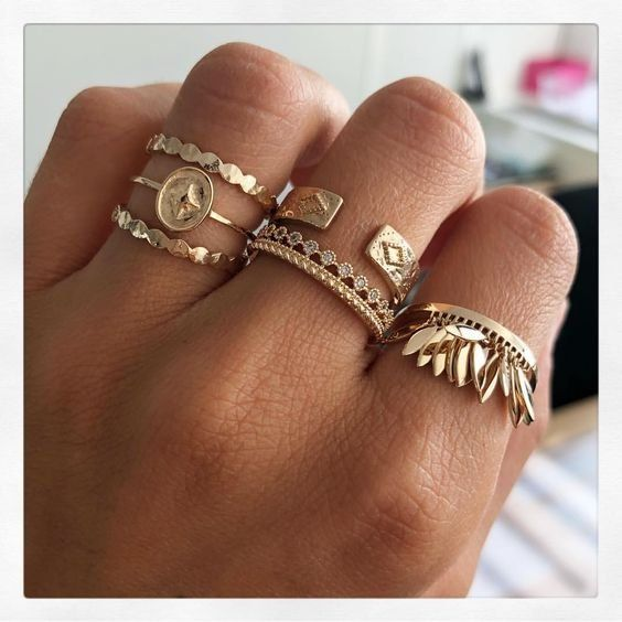 Jewellery   Gold   Rings   Inspiration   More on Fashionchick