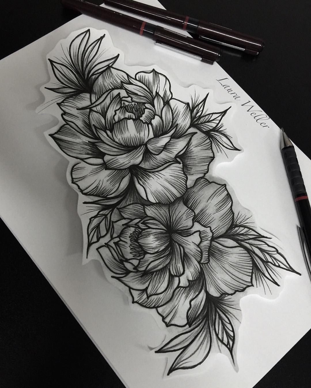 d851e271b Pin By Alyssa Bond On Tattoos Tattoos, Peonies Tattoo, Blackwork