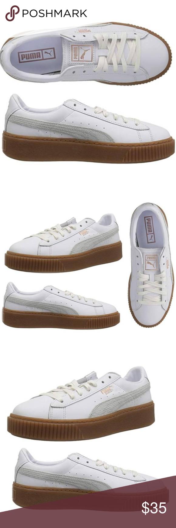 PUMA Women's Platform 100% Leather Sneaker NWT   Leather