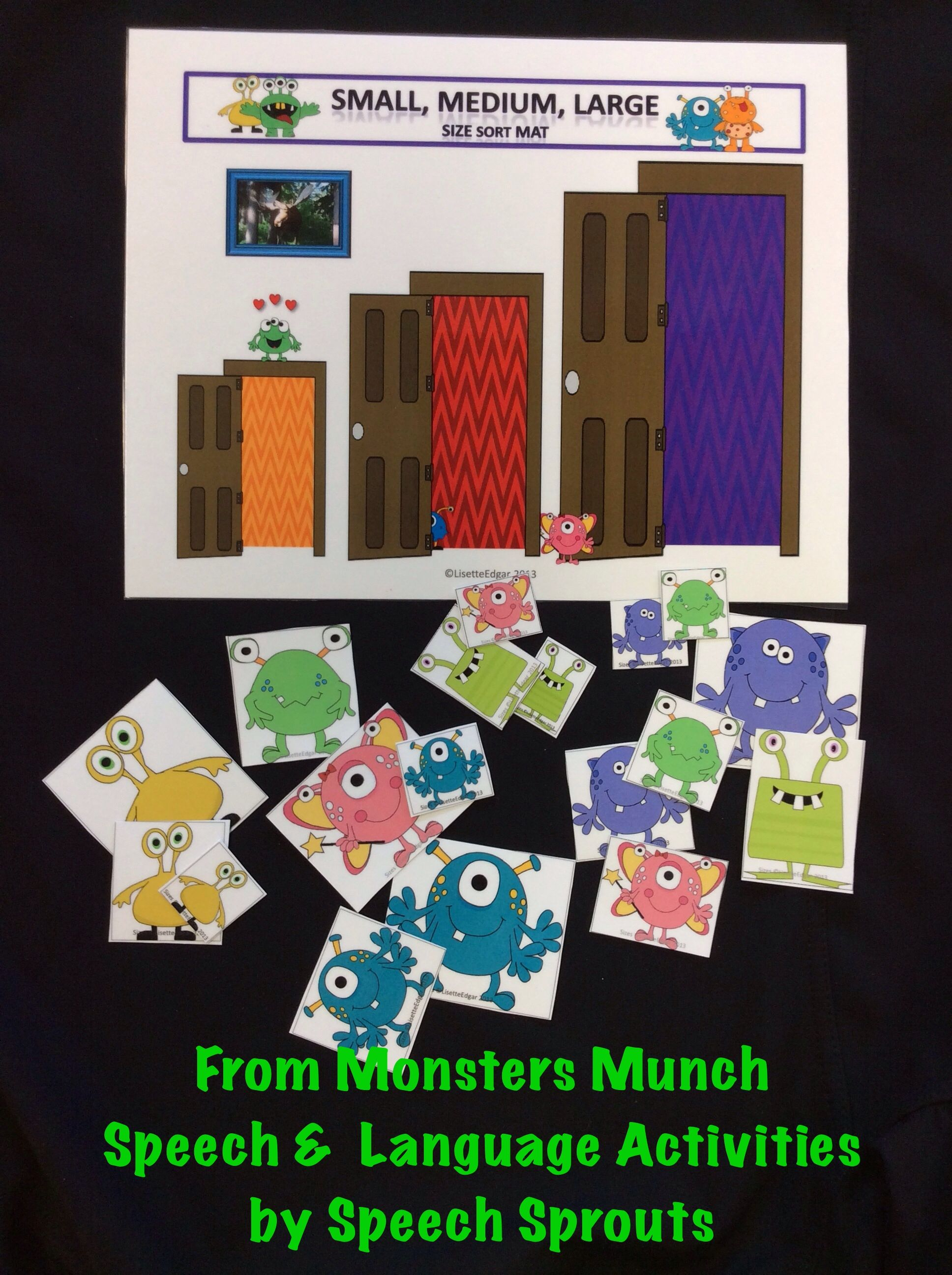 Monsters Munch Speech Therapy Plurals Categories