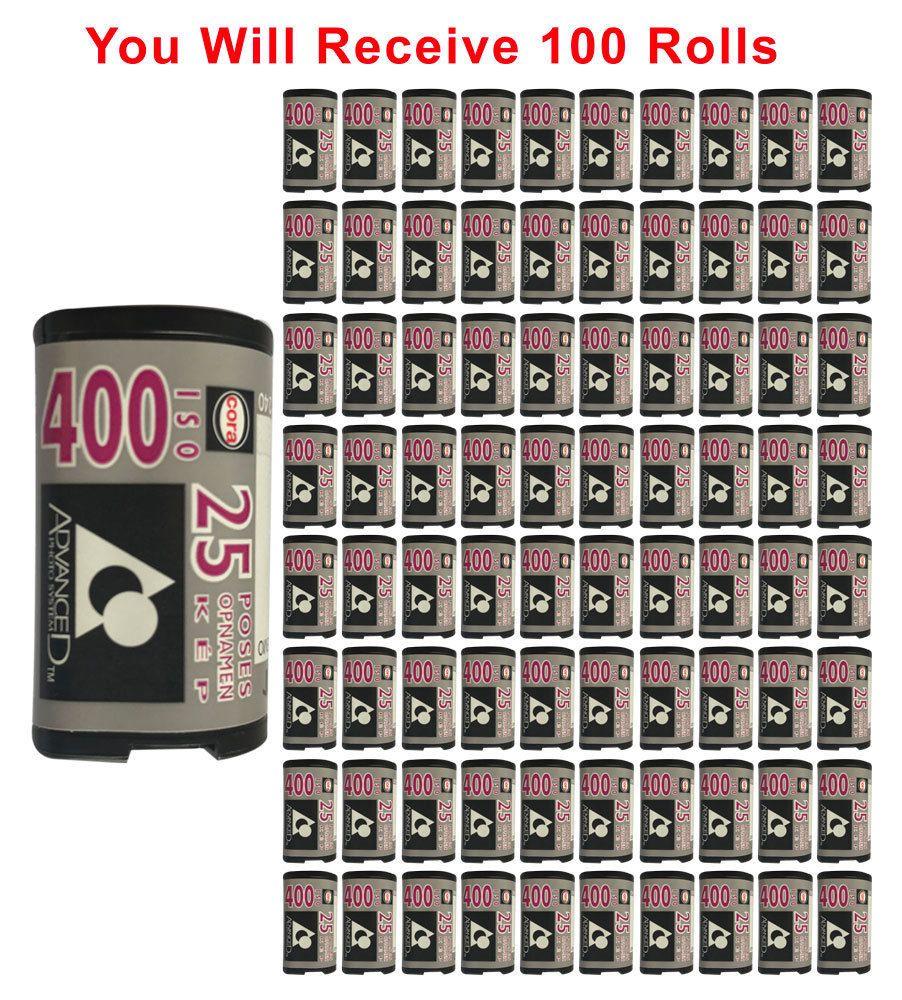 100 Rolls Cora Aps Film Iso 400 25 Exp Advantix Nexia Kodak Rare