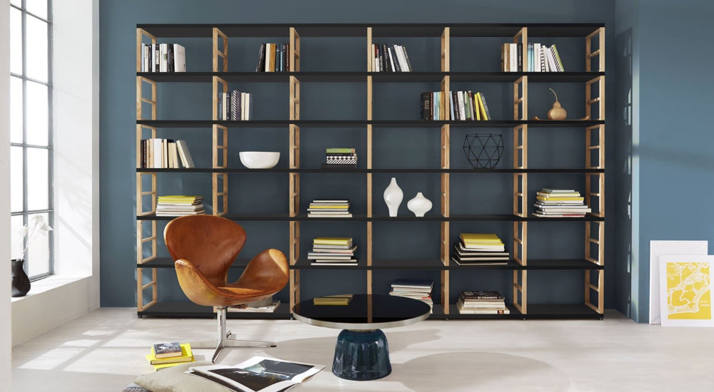 Maxx 5x5 Shelving Unit 288x183x33 Cm Lxhxd With Images Open Shelving Units Shelving Unit Freestanding Room Divider