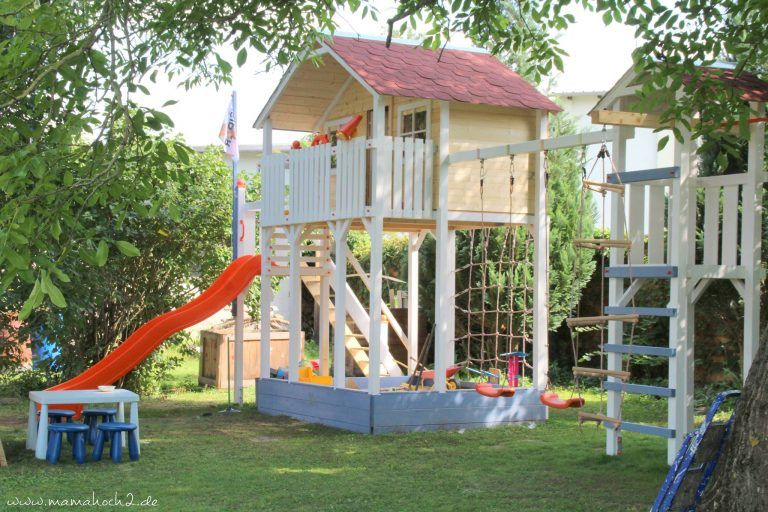 Ein Garten für Kinder Ihr eigenes Stelzenhaus Kinder