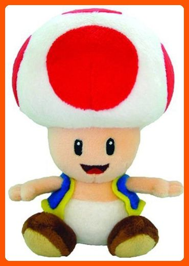 Nintendo Official Super Mario Toad Plush 6 Plush Cuteness