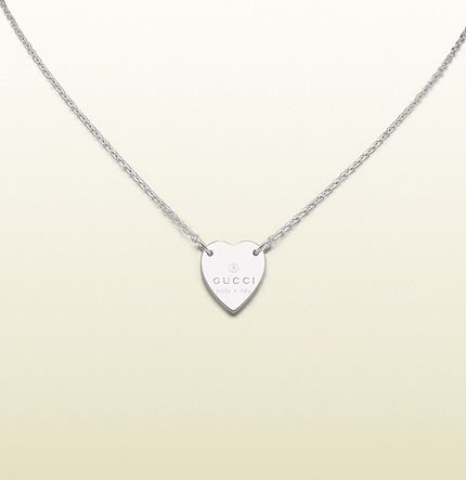 97f2a87d5b7 Gucci Necklace With Trademark Engraved Heart Pendant