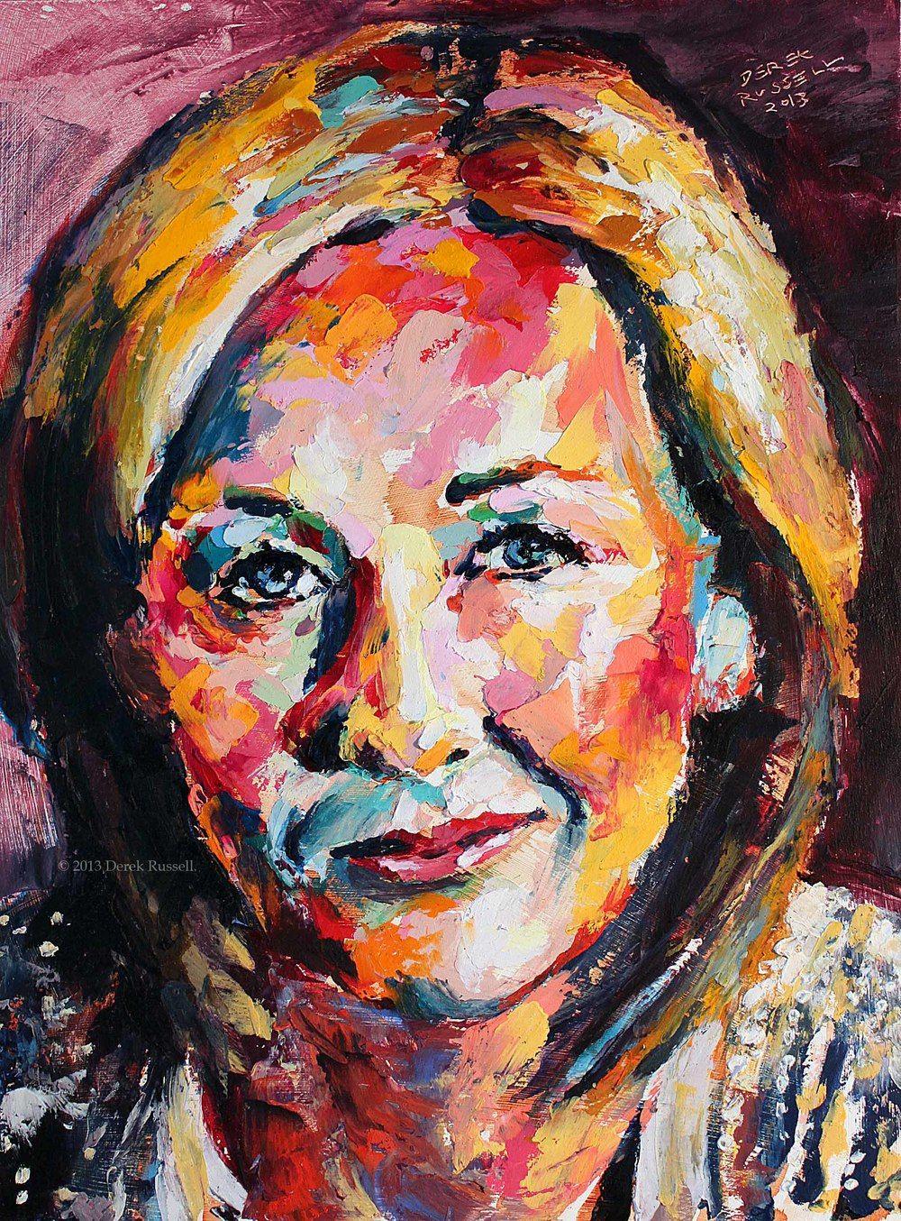 Rowling - Original Oil Painting Vibrant Art
