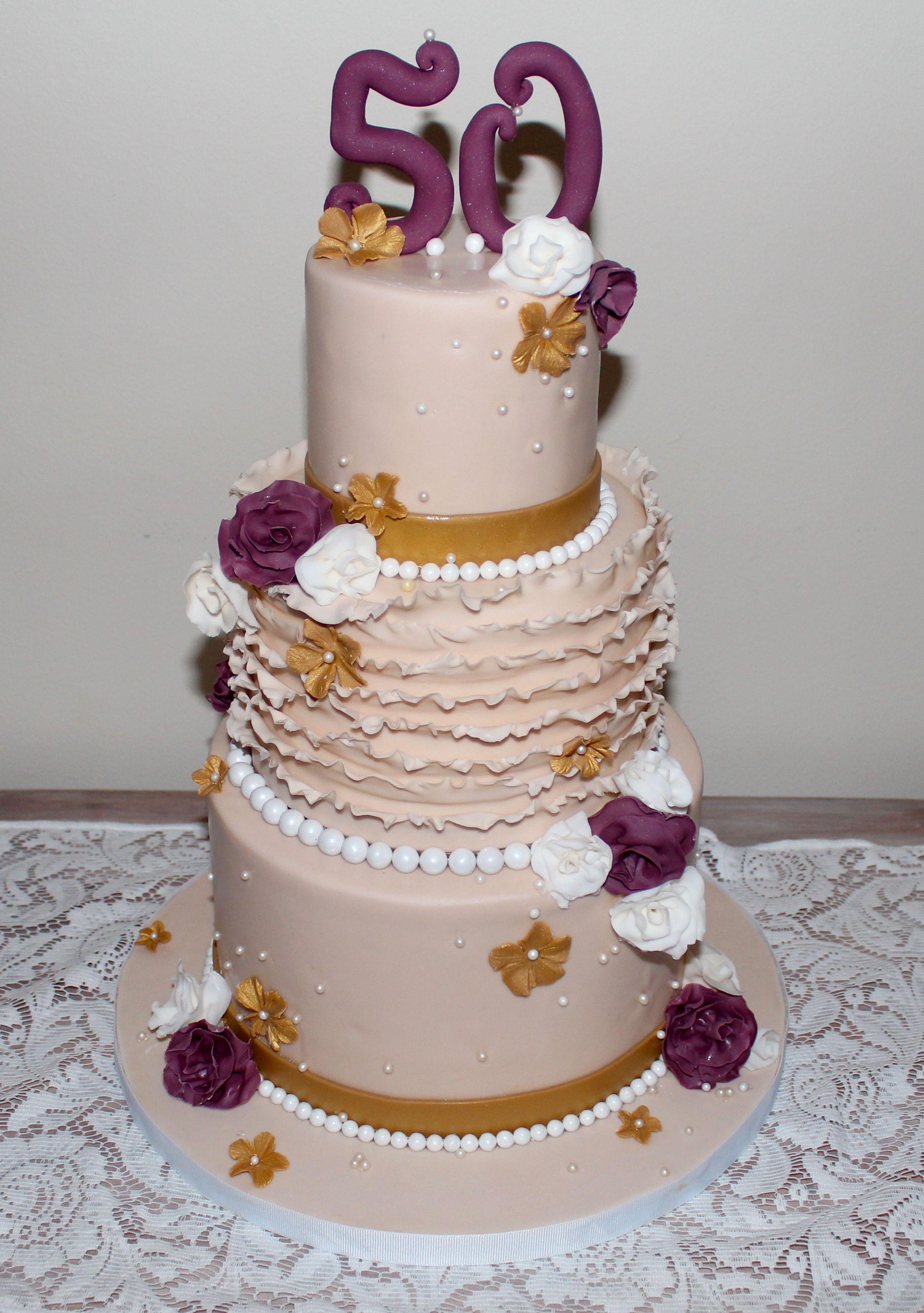 Nude birthday cake