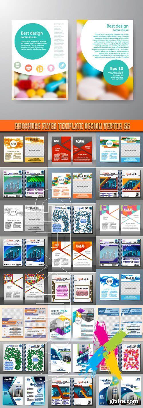 Brochure flyer template design vector 55   webtutorslivml