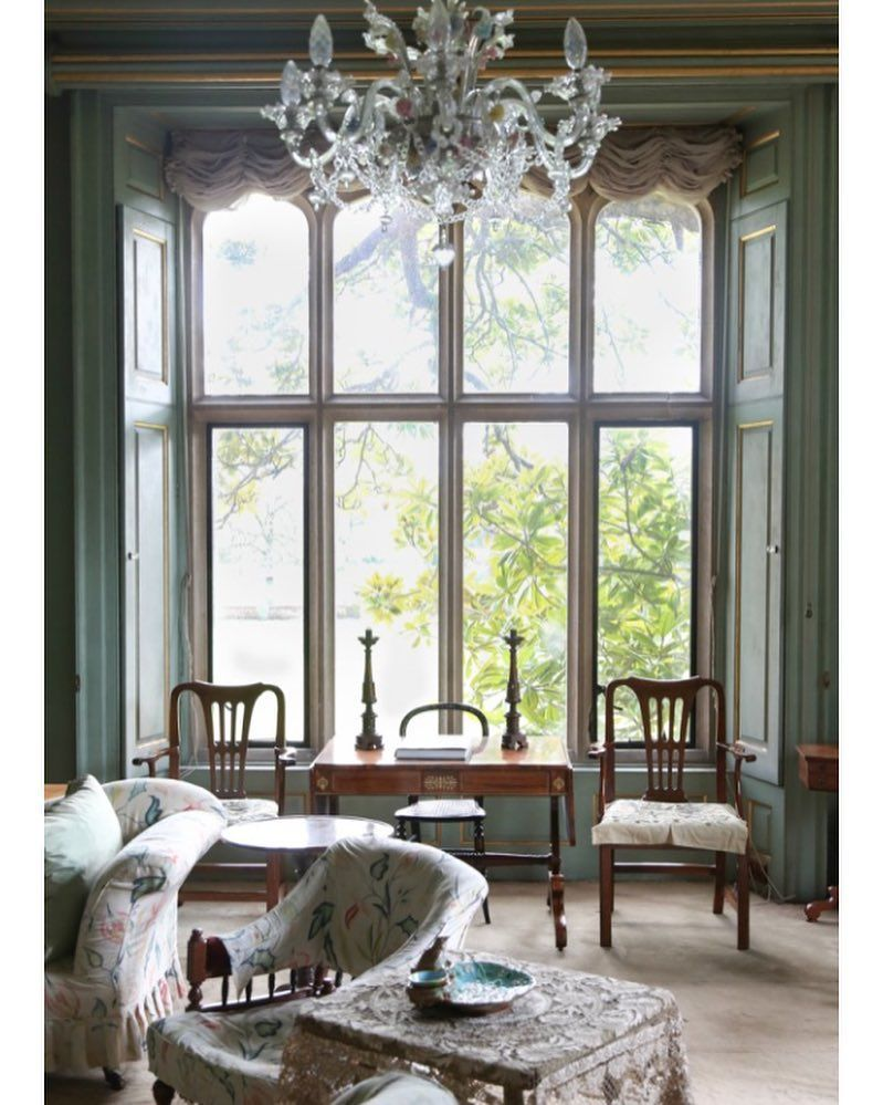 393 likes 6 comments nikki renshaw englisheccentrichome on edwardian style in this space we see muted pastel colors swaged draperies antiqued chandelier floral patterns and lace elements influenced by the arubaitofo Image collections