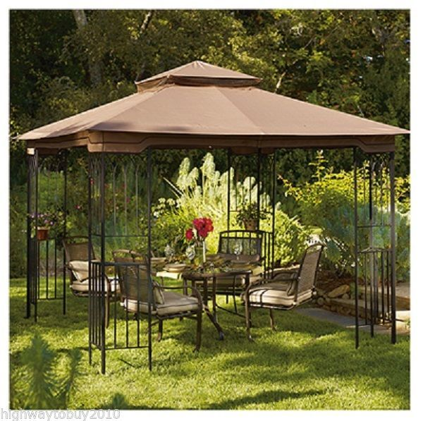 Sunjoy L Gz105pst 4f 10 X 10 Lansing Outdoor Backyard Gazebo Backyard Gazebo Outdoor Backyard Patio Gazebo