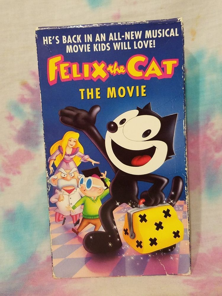 Felix the Cat The Movie (VHS, 1988) Buena Vista Home Video