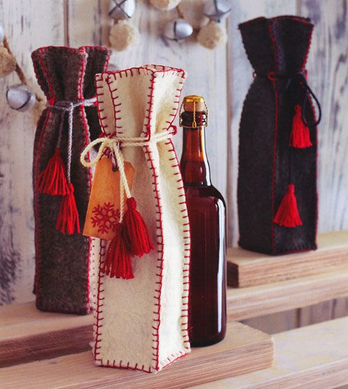 Luxury Wine Gift Bag Felt Wine Gift Bags Set of 12 - Wine bag diy, Wine gift bag, Wine bag, Wine gifts, Wine bottle bag, Gift bags - 2  dia      FREE SHIPPING WITHIN THE US!  Usually ships in 26 business days