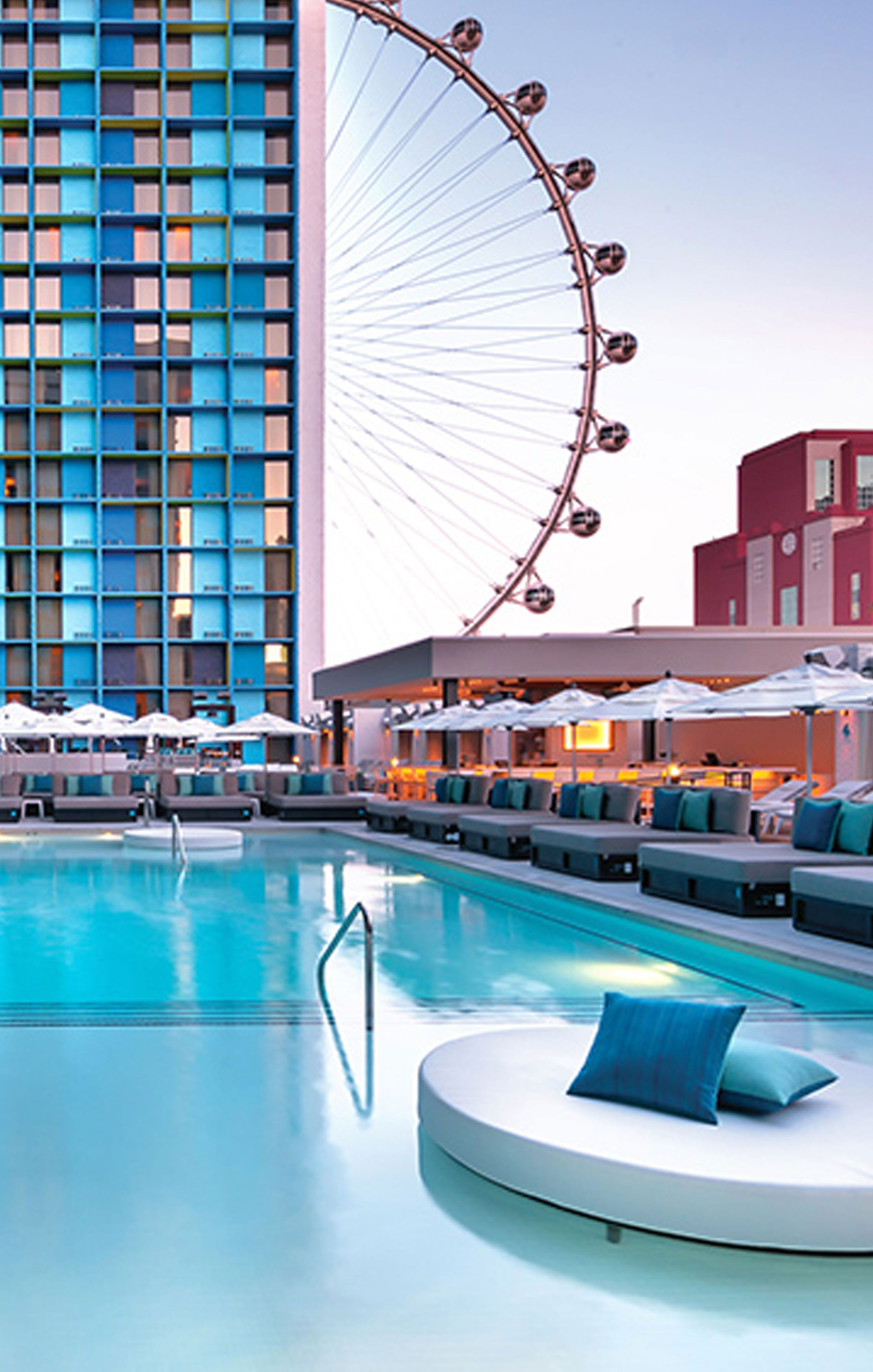 The Linq Hotel And Casino On The Vegas Strip Is Filled