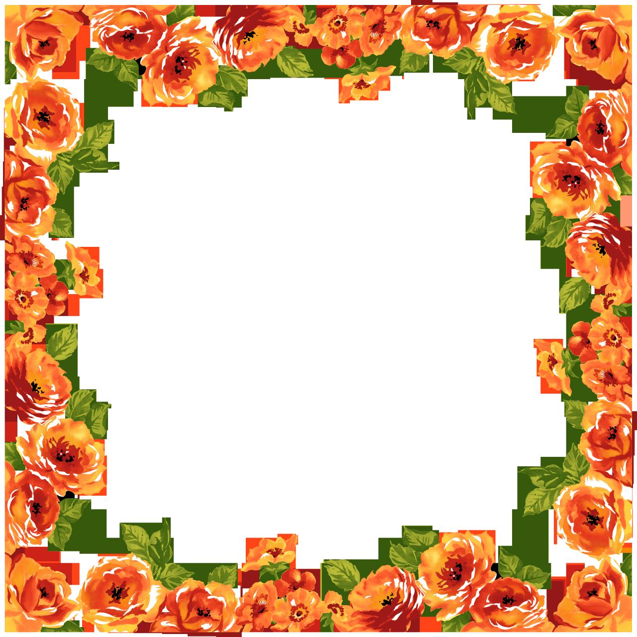 Pin De Blanka Dolinar Em Png: Moldura De Flores, Frame Floral