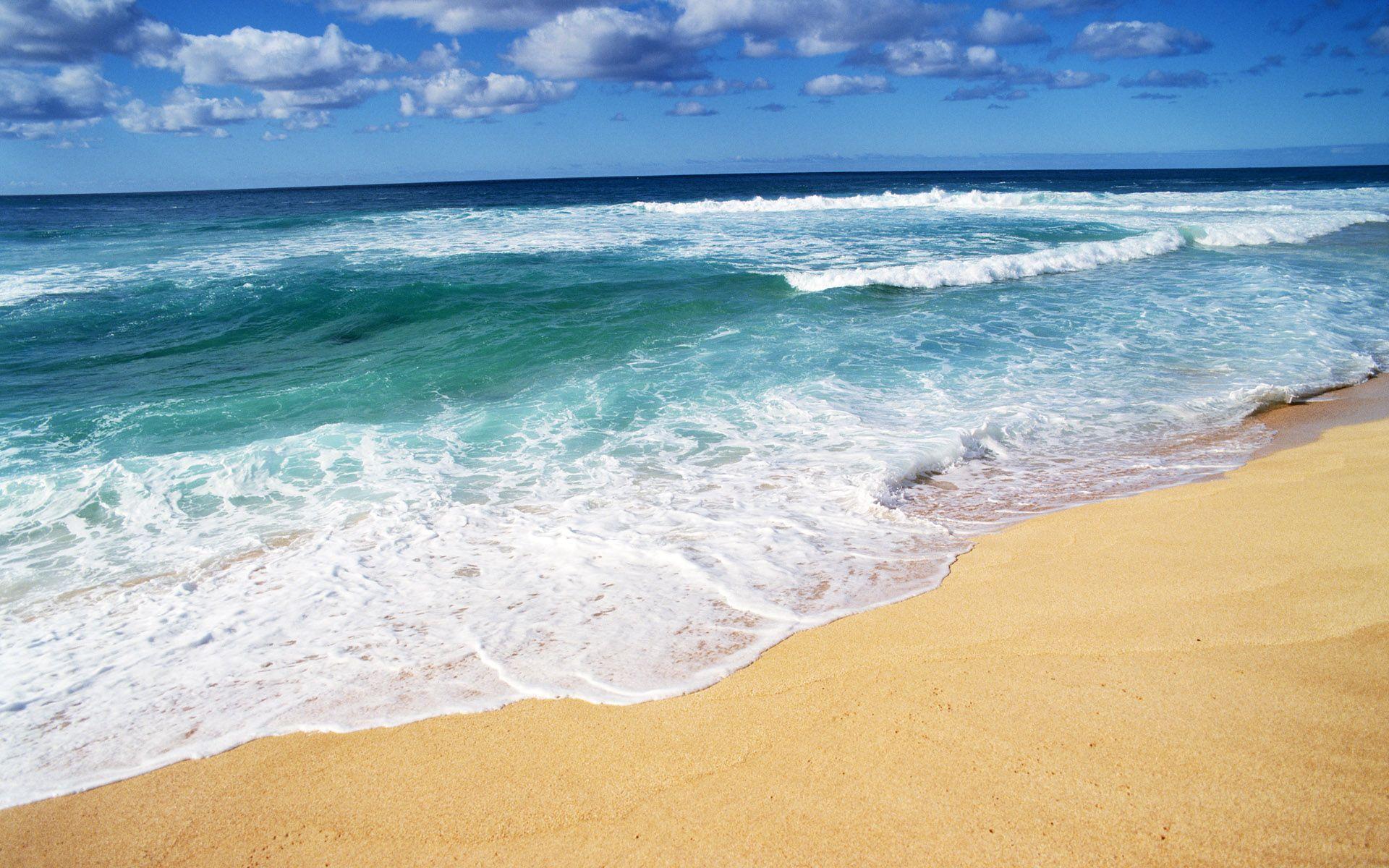 Waves And Beach Beach Wallpaper Hawaii Beaches Beach Wallpaper beach waves sea sand coast