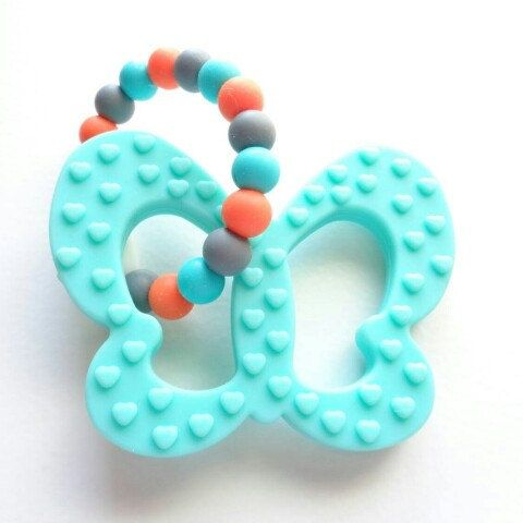 A new model of silicone teething toy in my Etsy shop! I'm in love with these colors!