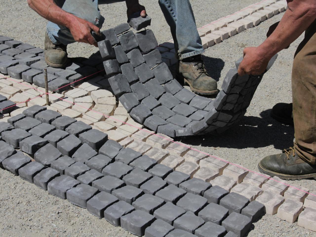 Pin By Sonia Mcclain On Landscape Ideas Cobblestone Patio Concrete Molds Patio Patio Stones