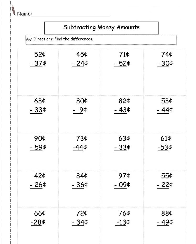 medium resolution of 2nd Grade Money Worksheets - Best Coloring Pages For Kids   Money worksheets
