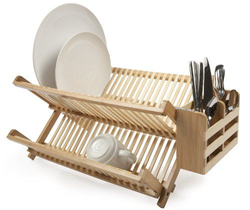 Core Bamboo Dish Rack With Utensil Holder Natural With Images