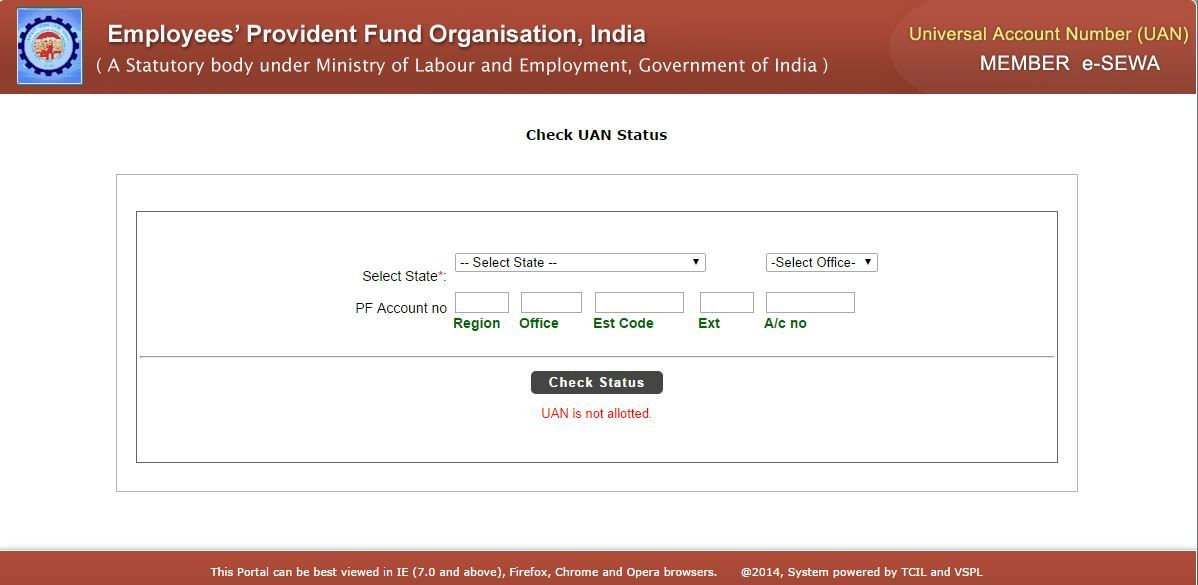 Know Your Universal Account Number (UAN) Status Of EPF (Employee