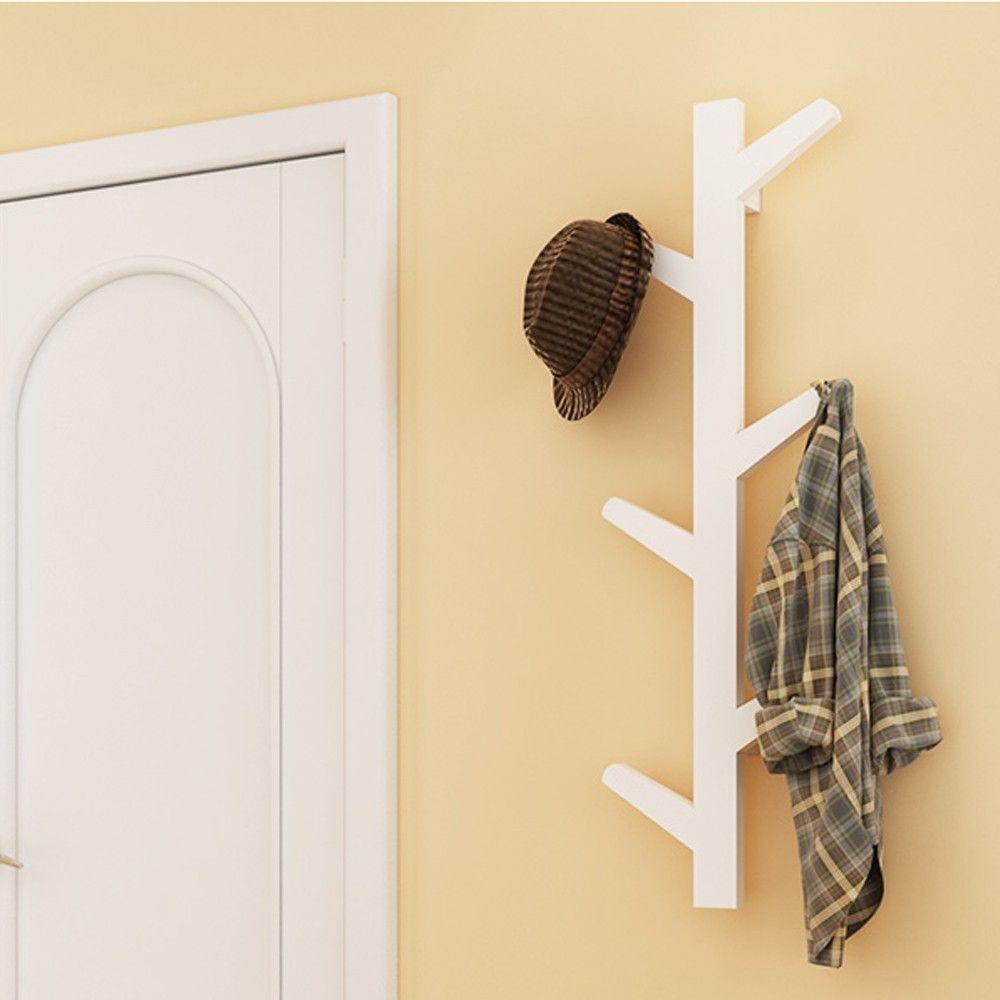 Idee Economiche Per Abbellire Casa yazi white bamboo 6 branches tree wall hanging coat rack