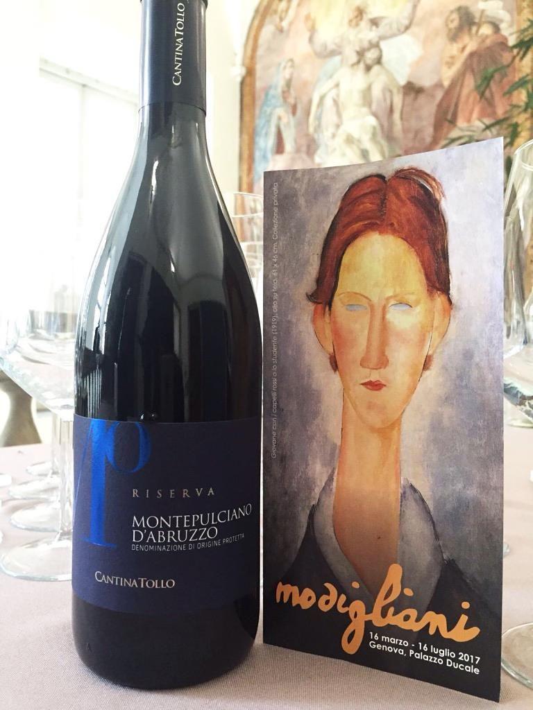 """Un viaggio nella pittura di Amedeo Modigliani che #CantinaTollo promuove all'interno del progetto """"Un calice per l'arte"""".  Dal 16 marzo al 16 luglio 2017 #Modigliani al Palazzo Ducale di #Genova."""