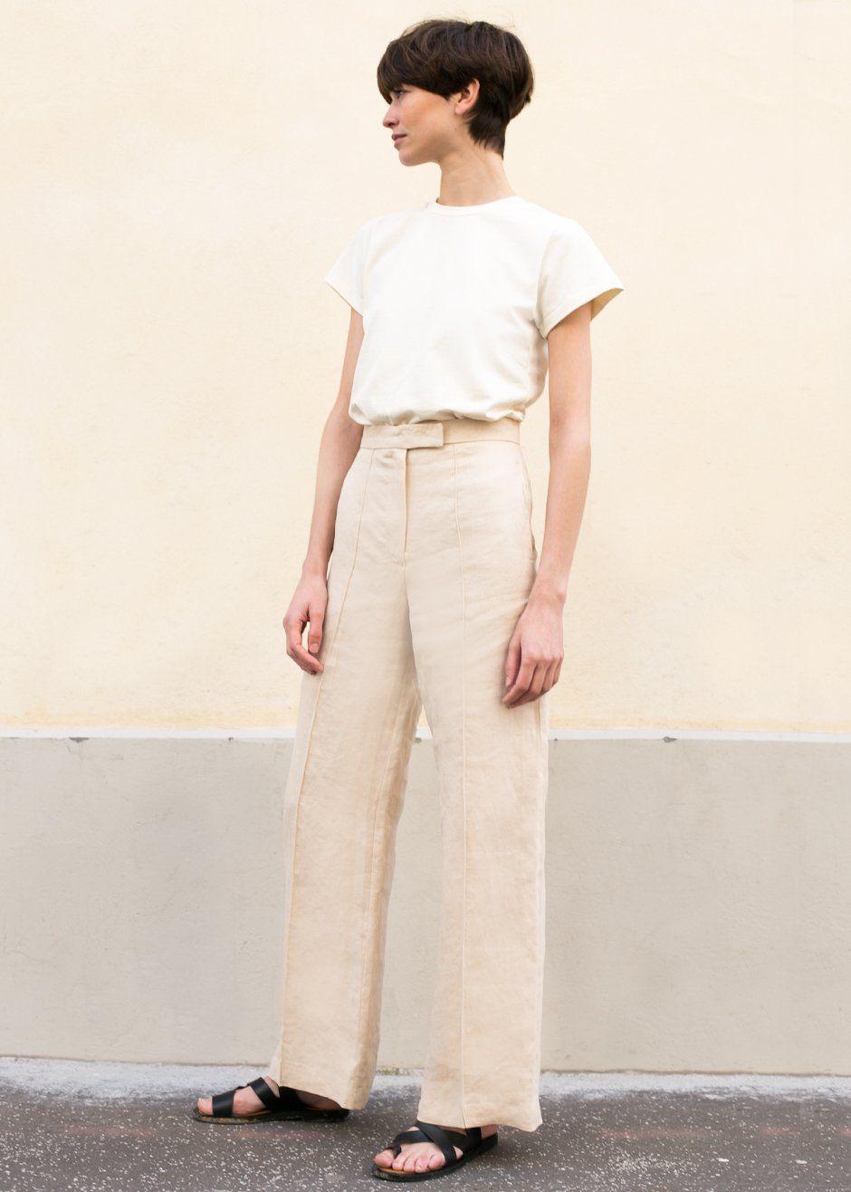 36694516b3 Beige Linen Safari Pants – The Frankie Shop
