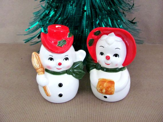 Vintage Christmas Snowman 1960's Lefton by ThirstyOwlVintage, $22.50