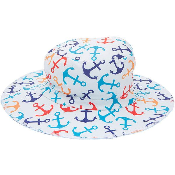dadc4708b2b Swimlids Anchor Funky Bucket Hat ( 13) ❤ liked on Polyvore featuring  accessories