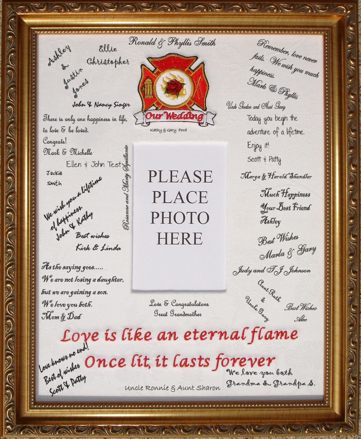 Firefighter Wedding Guest Book - The Wedding Specialists | Projects ...