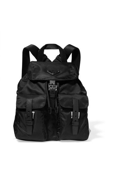 39a9742307ac6b #prada #bags #leather #backpacks #. PRADA cool Vela small textured-leather  trimmed shell backpack ...