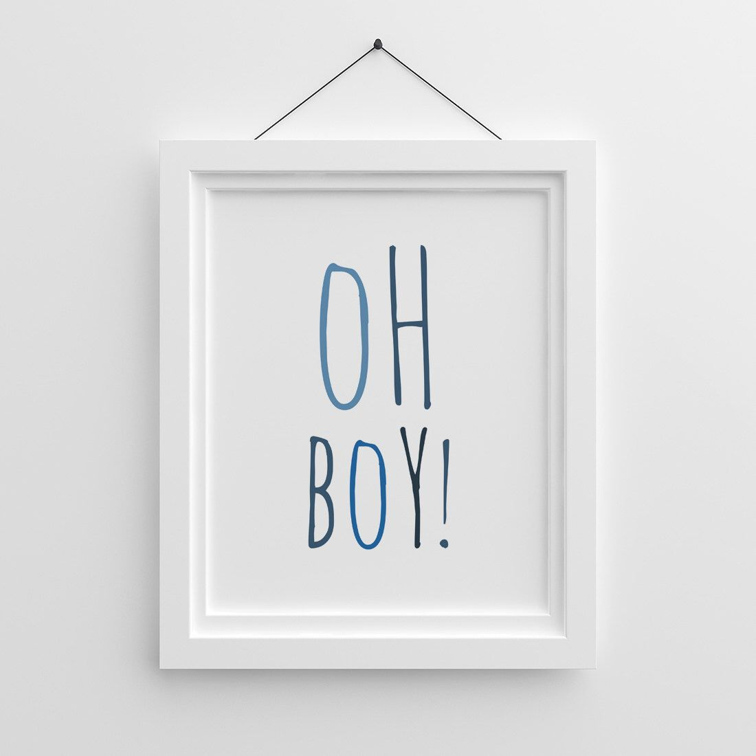 Quotes For Baby Shower Oh Boy Navy Blue Indigo Printable Nursery Wall Art Baby Shower