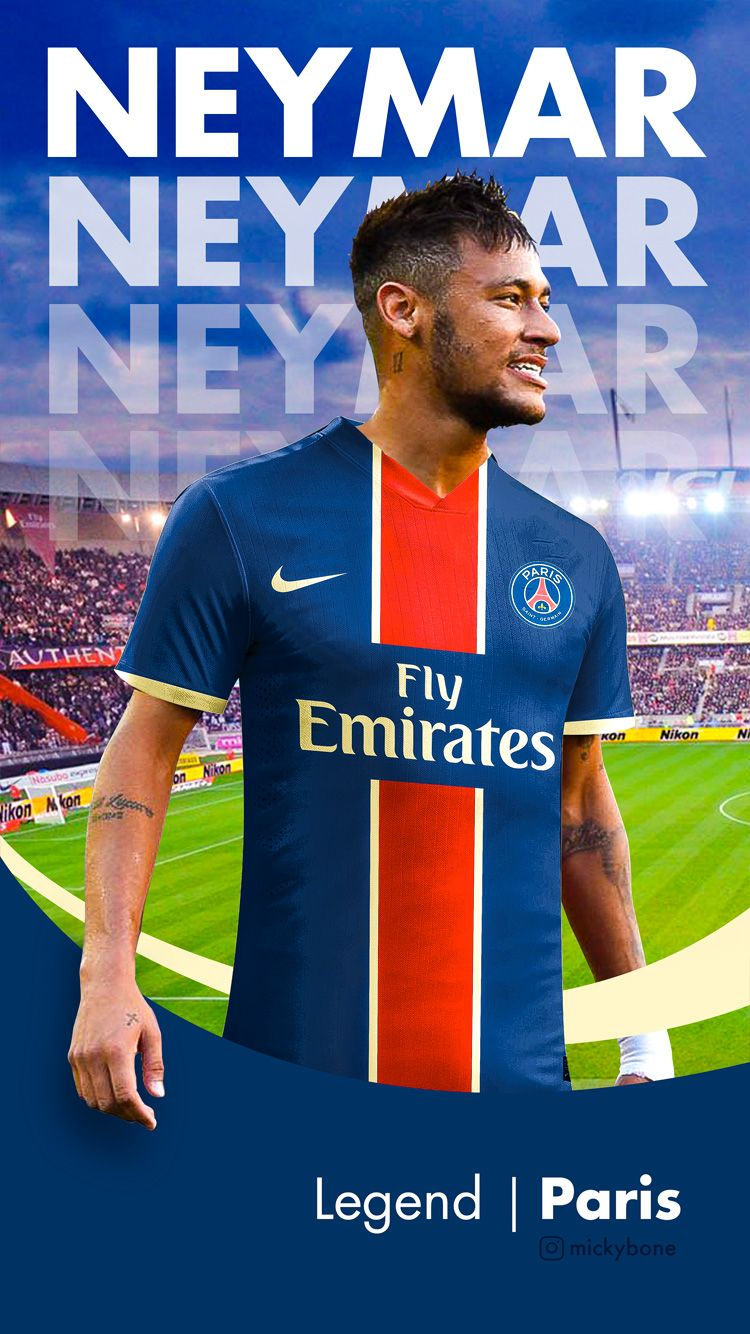 Wallpaper iphone Neymay PSG classic Papeis de parede