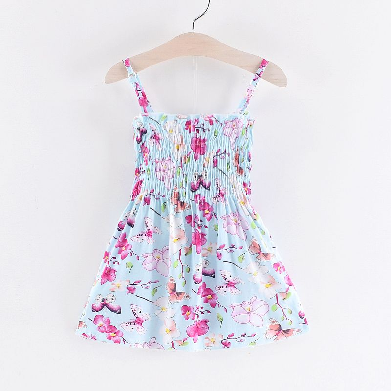 Baby / Toddler Girl Butterfly Allover Ruffled Design Strappy Dress #babygirlpartydresses
