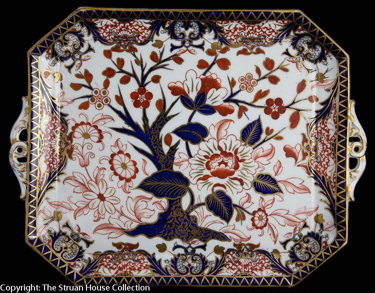 """Dating from 1882 this wonderful cabaret tray is in excellent condition for its 129 years The rich imari pattern is beautifully hand painted and this is exactly the sort of tray which would have been found in the real """"Downton Abbey""""."""