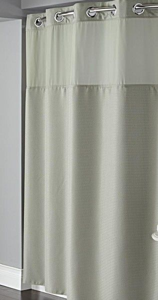 Hookless Sage Green Diamond Pique Mystery Shower Curtain