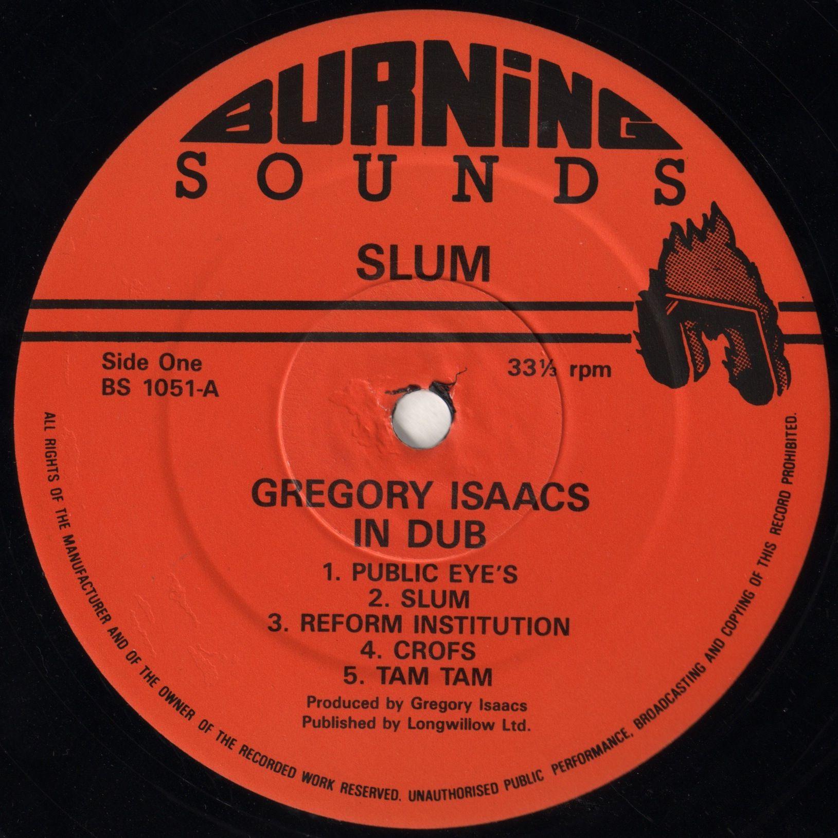 Gregory Isaacs - Slum In Dub (Label)