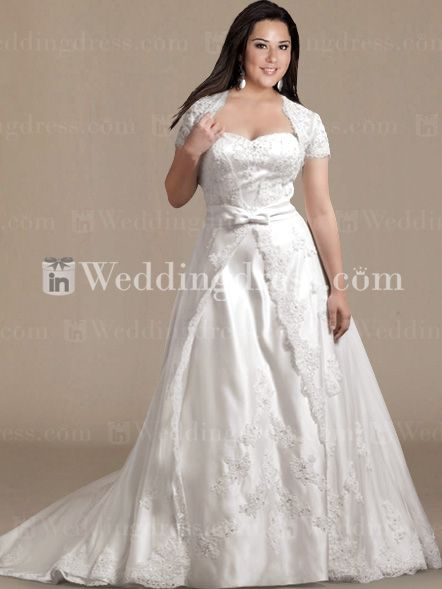 Vintage Plus Size Wedding Gown With Lace And Beading Ps036