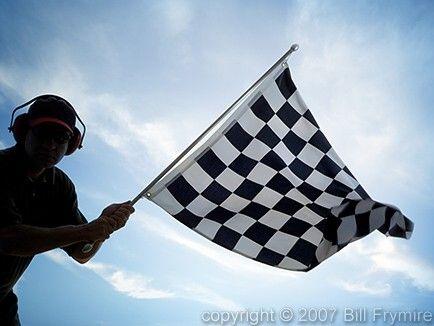 Man Waving Checkered Flag Checkered Flag Checkered Smyrna