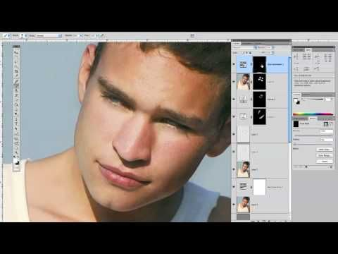 Adding Noise to men's skin to mimic texture and pores