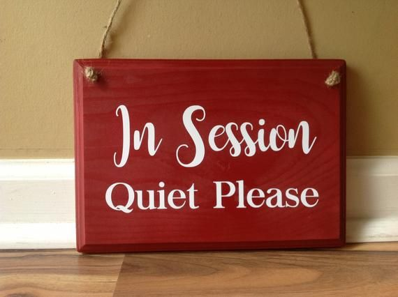 In Session Quiet Please Door Hanger wood painted custom hanging door