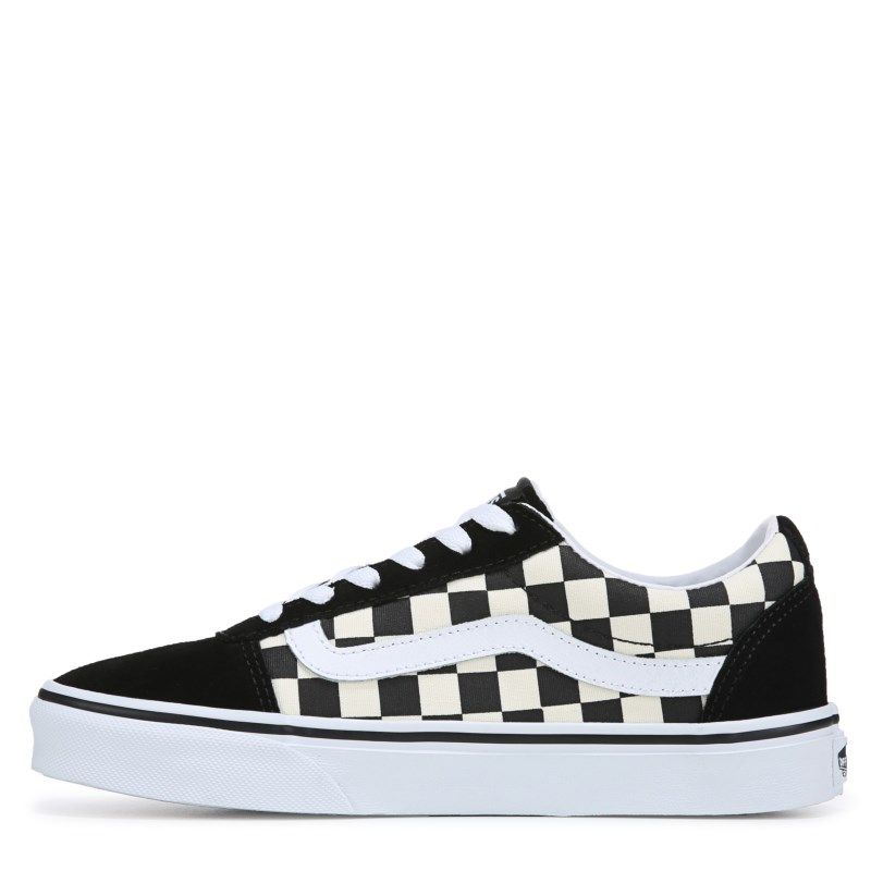 586b640b39fa76 Vans Women s Ward Low Top Sneakers (Checkerboard Black)