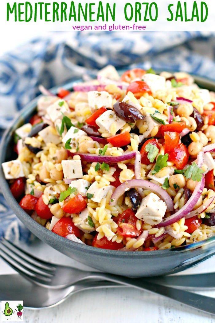 Mediterranean Orzo Salad Vegan