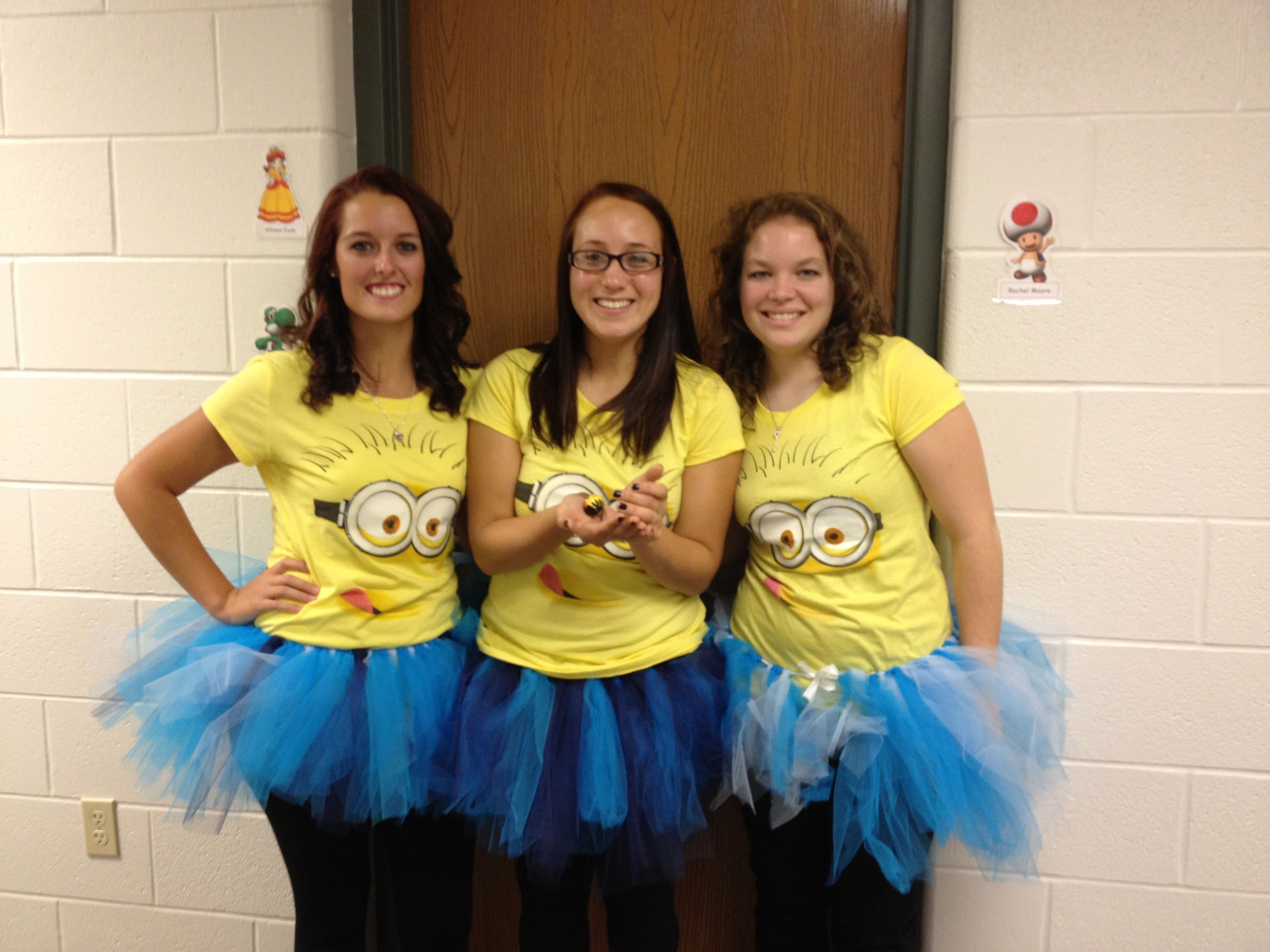 minions costume for halloween for our three girls ages 19mo 7 10 - Halloween Costumes Three Girls