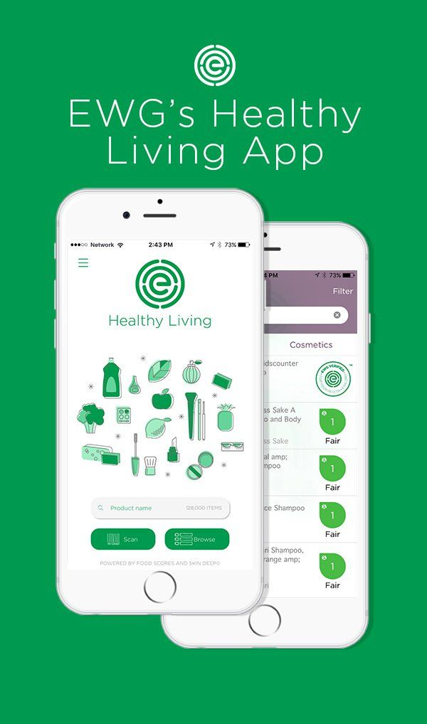 EWGu0027s Healthy Living App Is A Combination Of Two Existing Exygy Apps,  FoodScores And SkinDeep